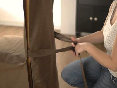 Como poner una funda para silla de hostelería