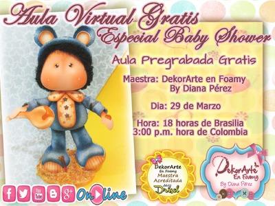 DEKORARTE EN FOAMY- AULA VIRTUAL BABY SEBASTIAN - MICROPOROSO - GOMA EVA