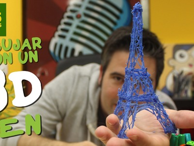 DIBUJANDO EN EL AIRE TORRE EIFFEL 3D! Review boligrafo impresora 3D barata, 3D Print Pen  en Español
