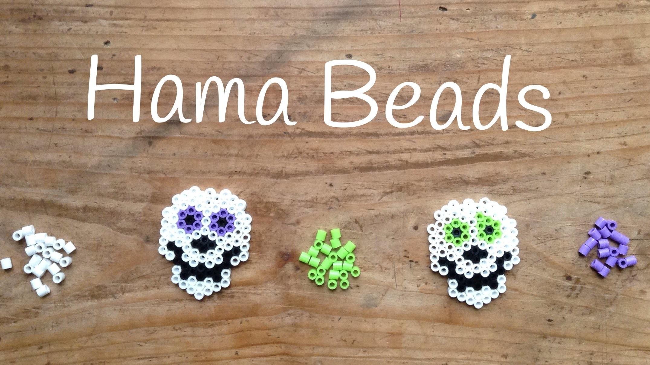 Diseños de Hama Beads: Calavera para Halloween