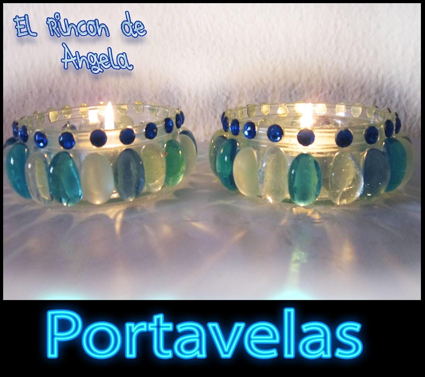 DIY como hacer un portavelas con cristales para  navidad
