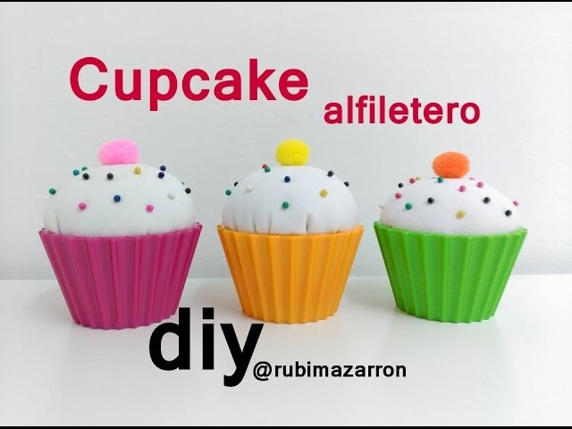 Diy. Cupcake alfiletero