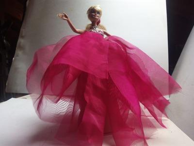 Diy vestido de princesa barbies sin coser 1ª
