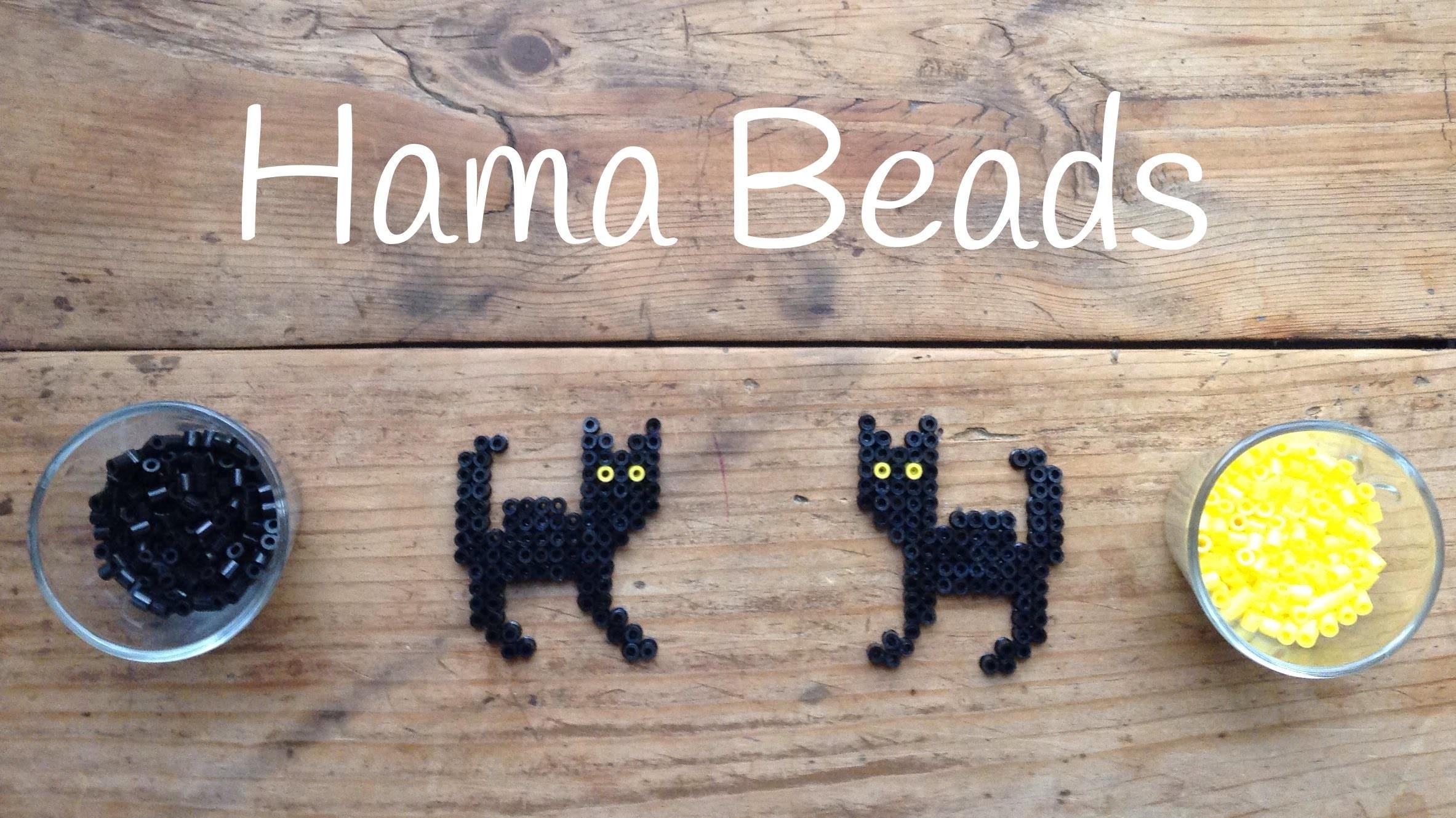 Gato de hama beads para Halloween