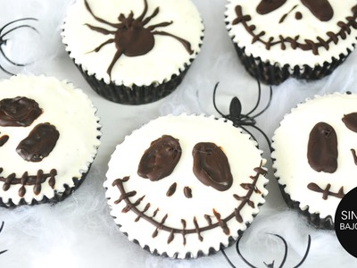 HALLOWEEN SALUDABLE: Jack Skellington Cupcakes   SIN AZÚCAR y muy fáciles!