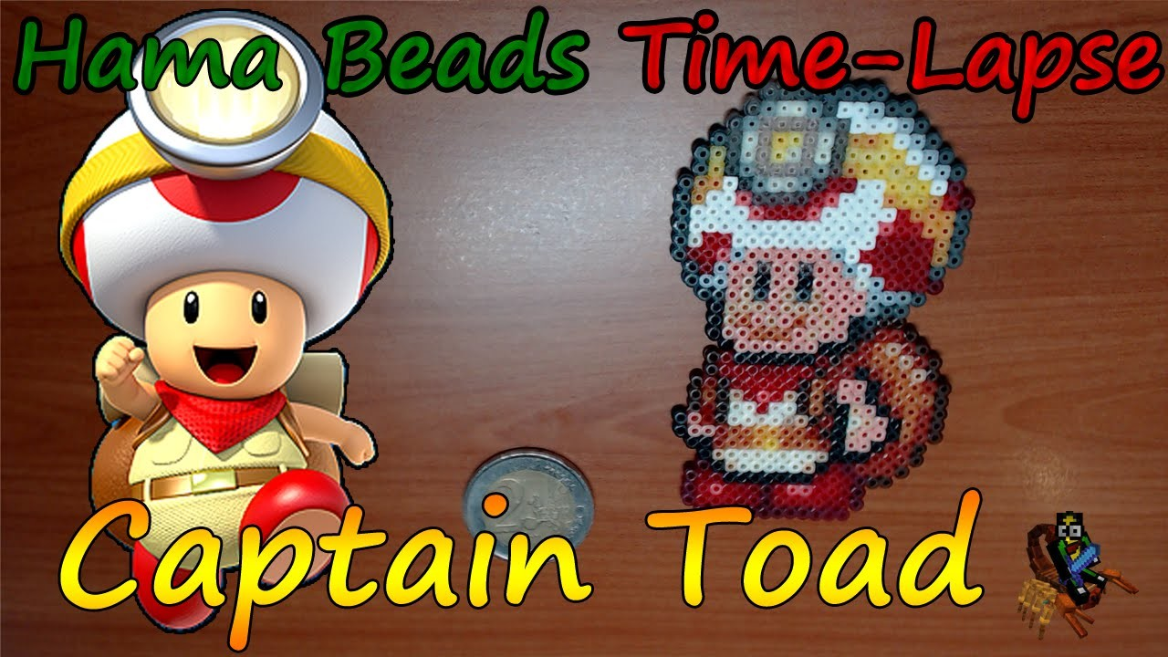 Hama Beads Time Lapse - Captain Toad