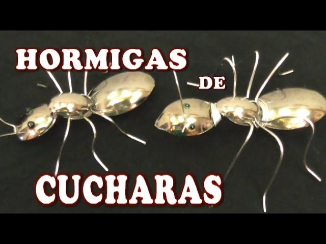 HORMIGAS HECHAS CON CUCHARAS PLASTICAS - ANTS MADE WITH PLASTIC SPOONS