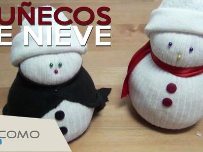 Manualidades de navidad fáciles - Muñecos de nieve