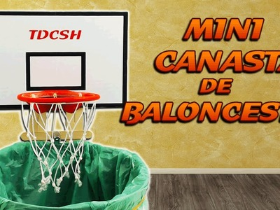 Mini canasta de baloncesto casera, cómo se hace