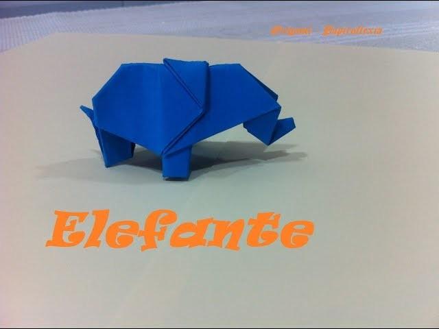 Origami - Papiroflexia. Elefante