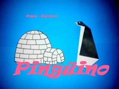 Origami - Papiroflexia. Tutorial: Pingüino, muy fácil y rápido