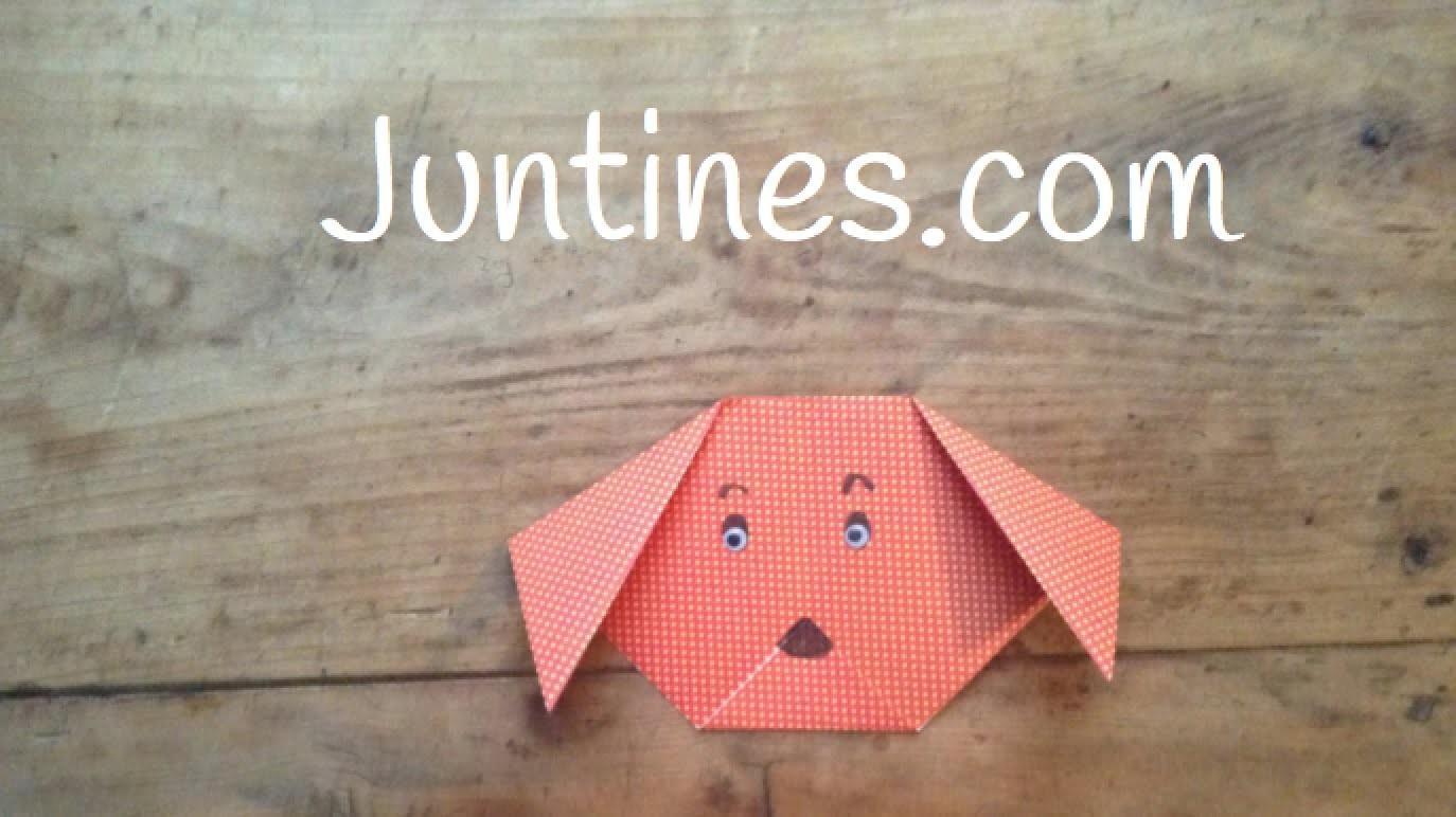 Perro de Origami  para niños fácil