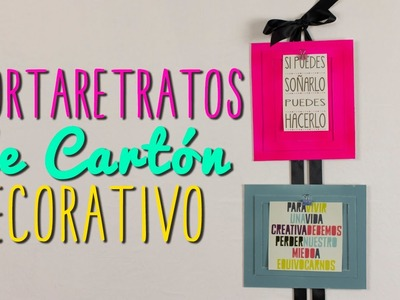 Portaretratos Creativos de Cartón - Ideas para decorar tu cuarto - DIY| Catwalk ♥