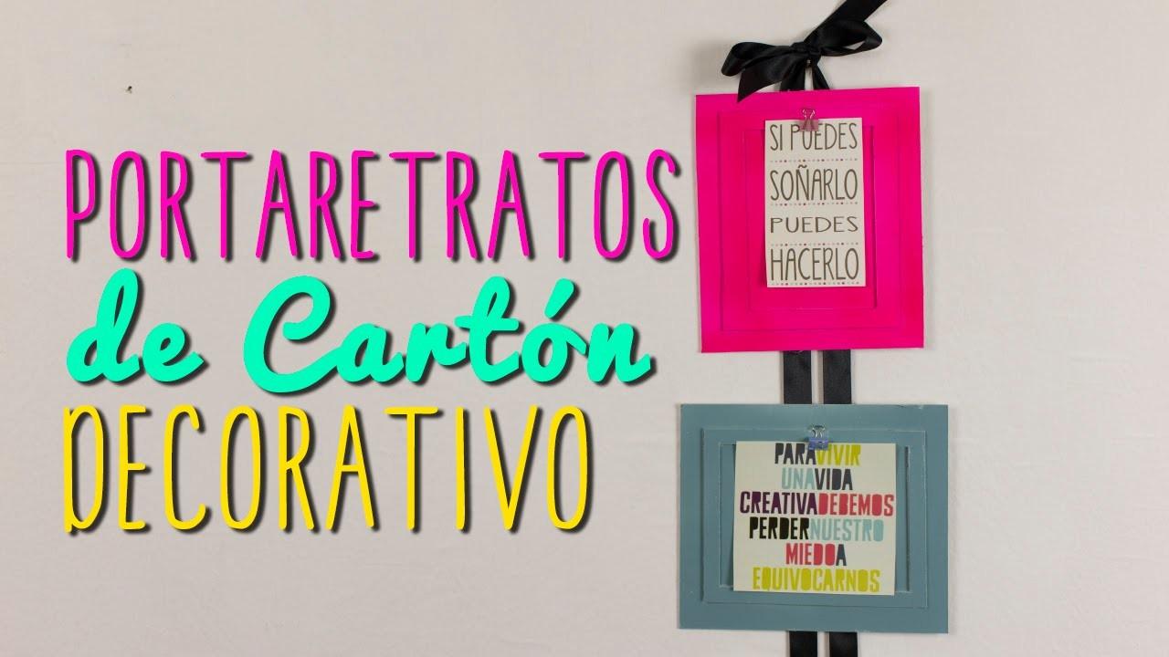 Portaretratos Creativos de Cartón - Ideas para decorar tu cuarto - DIY  Catwalk ♥