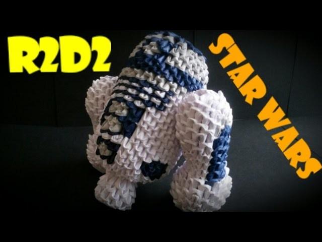 R2D2 ( ARTURITO ) DE STAR WARS EN ORIGAMI 3D