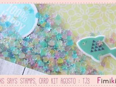 Simons Says Stamps, Card kit Agosto : Tarjeta 3