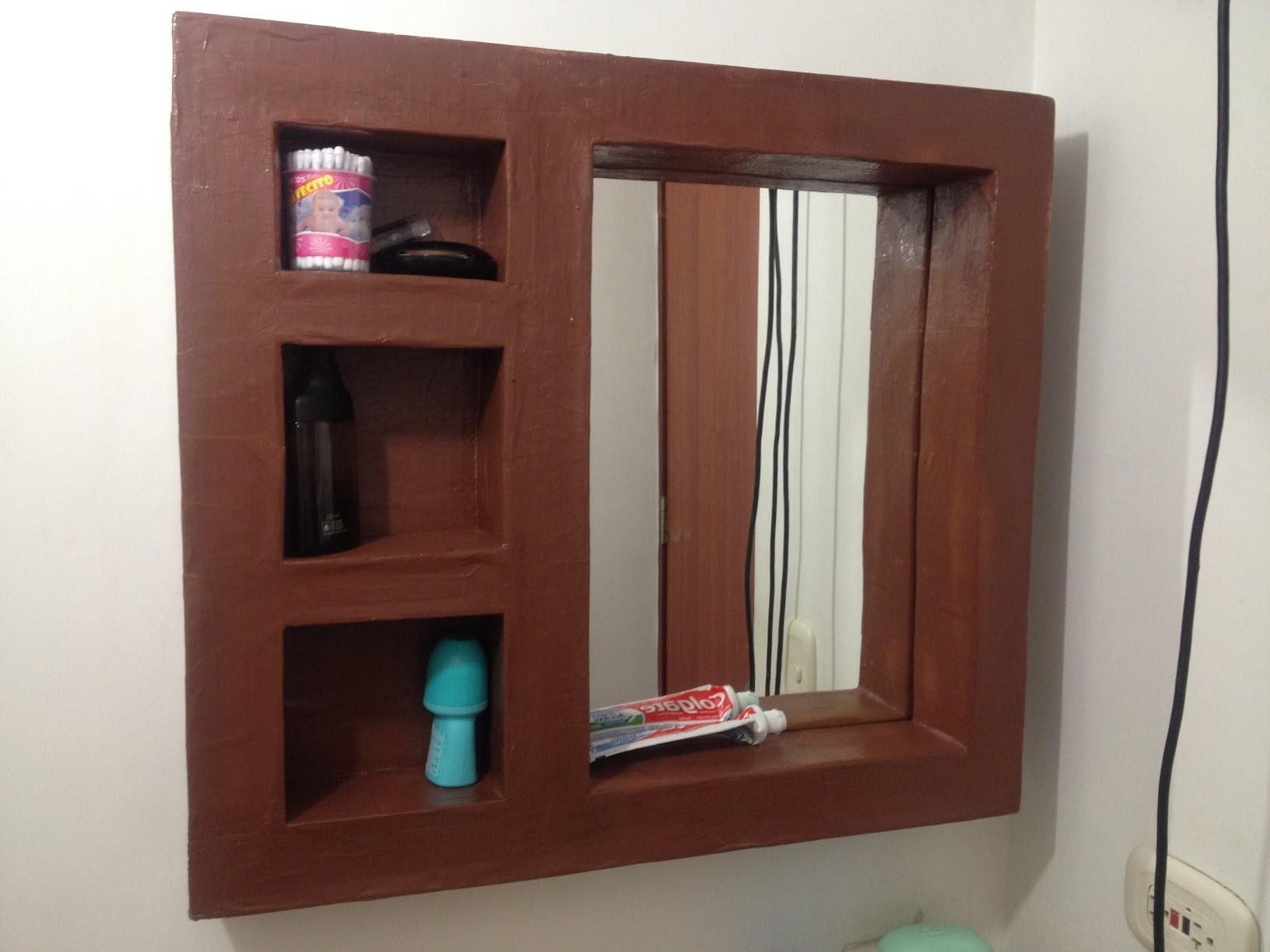Tutorial: como hacer mueble de carton espejo organizador ...