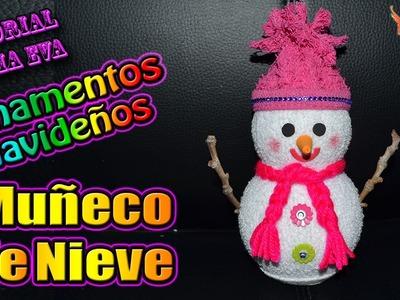 ♥ Tutorial Navidad: Ornamentos Navideños - Muñeco de Nieve en 3D♥