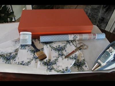 Tutorial: Reciclando telas con pintura Chalky y tela autoadhesiva