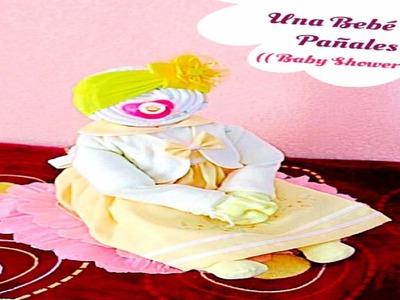 Una Bebé De Pañales Para Baby Shower