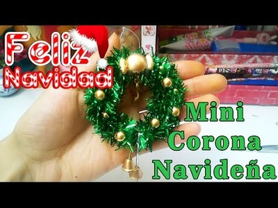 Adornos NAVIDEÑOS, corona navideña para muñecas