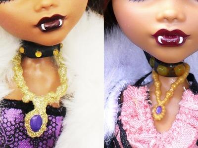 Collares y Gargantillas de reemplazo para Clawdeen Wolf - Recreaciónes de objetos para muñecas