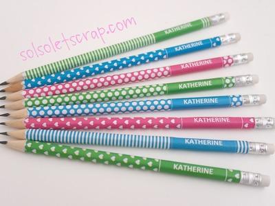 Cómo decorar lápices. Incluye PDF personalizable