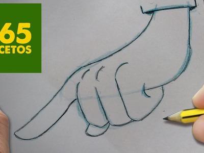 COMO DIBUJAR MANO KAWAII PASO A PASO - Dibujos kawaii faciles - How to draw a HAND