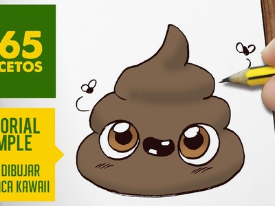 COMO DIBUJAR UNA CACA KAWAII PASO A PASO - Dibujos kawaii faciles - How to draw a poo