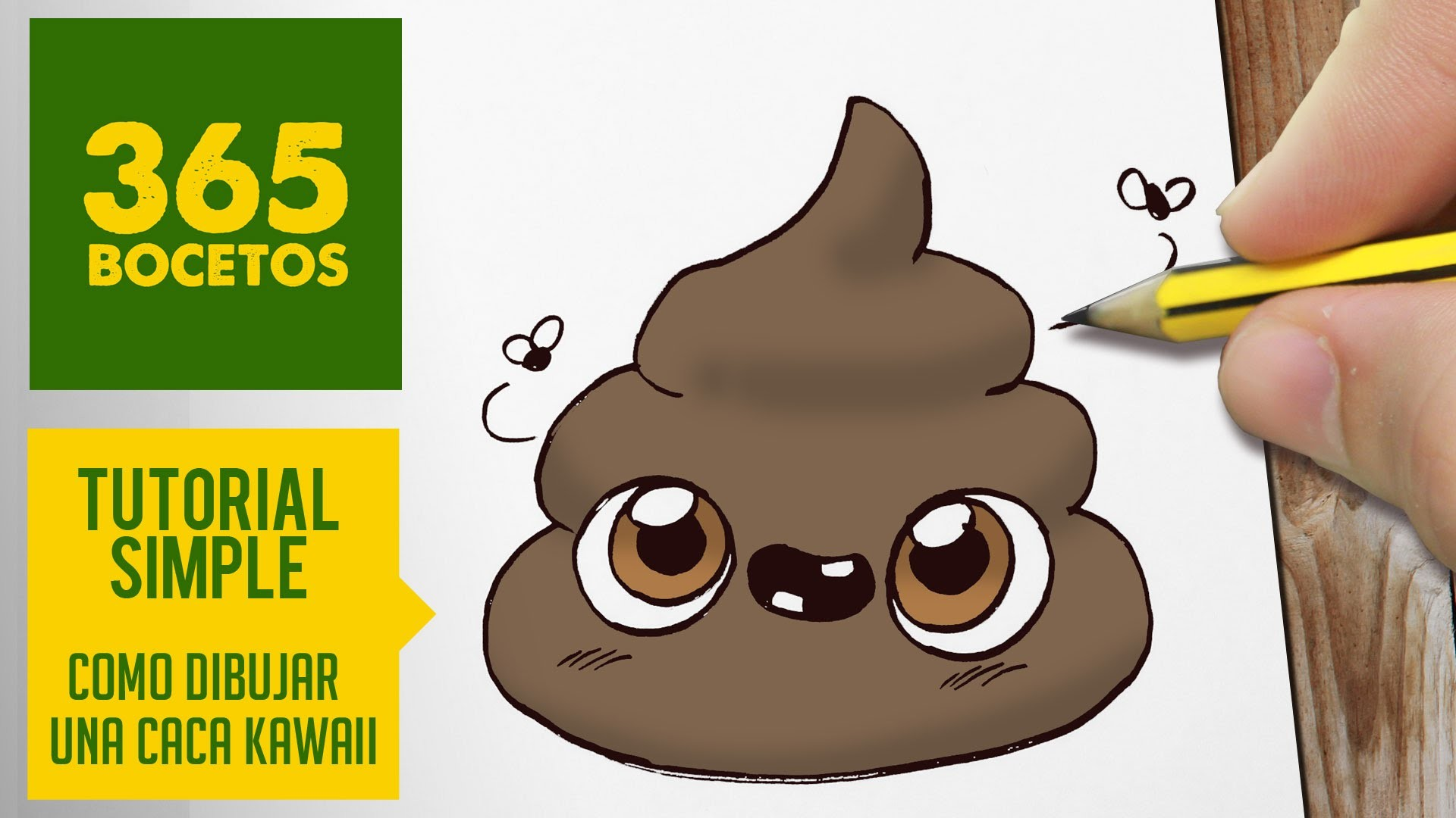 COMO DIBUJAR UNA CACA KAWAII PASO A PASO - Dibujos kawaii faciles - How to draw a poo