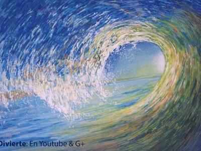 Cómo dibujar una ola de mar en movimiento- Arte Divierte.