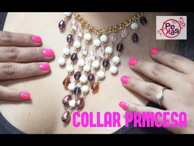 Como hacer Collar Princesa de Perlas y Cristales : Pekas Creaciones