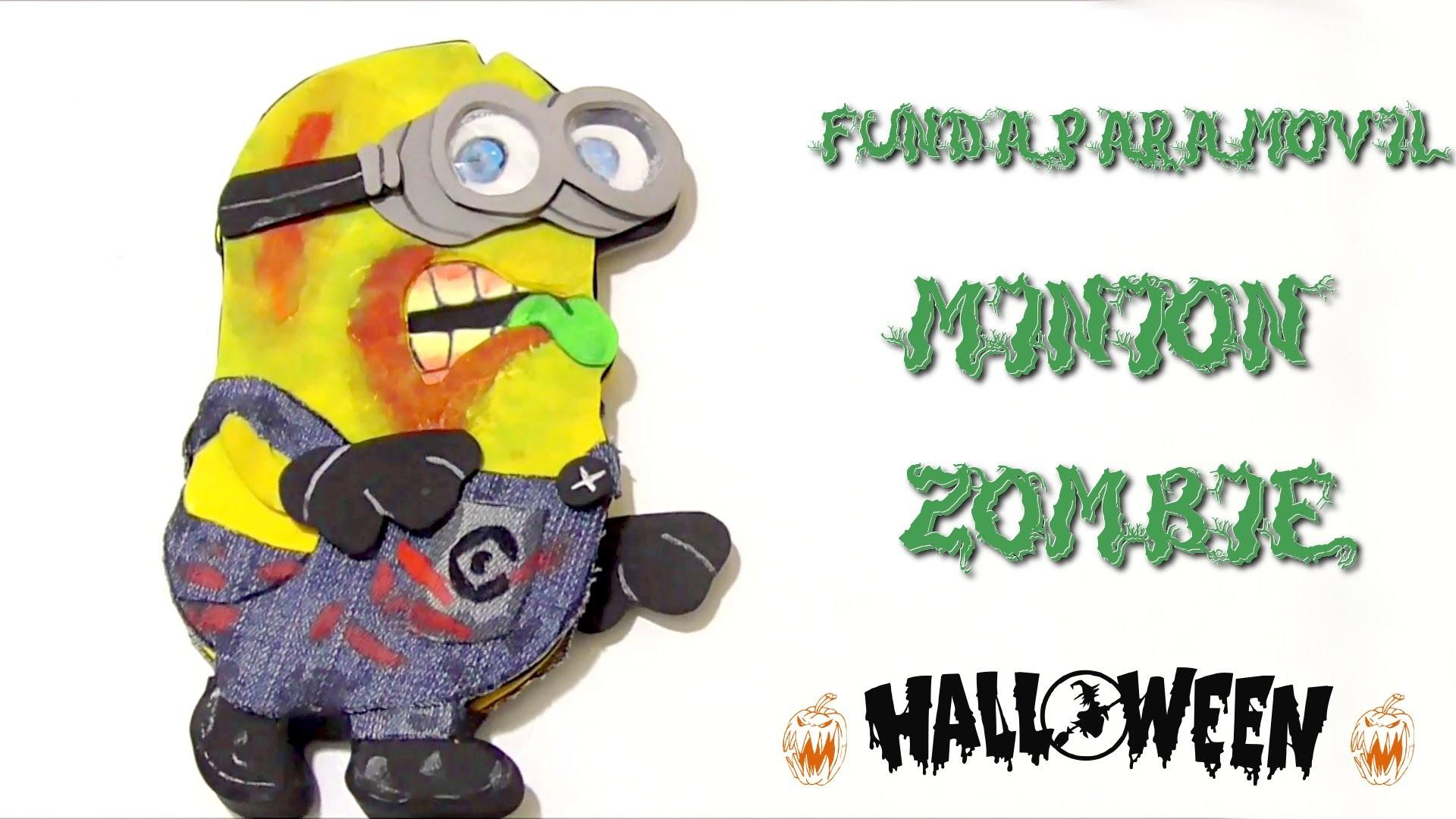 Cómo hacer fundas para celulares - Funda Minion Zombie #halloween2015