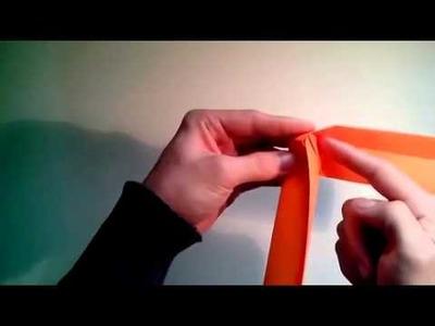 Como hacer un boomerang de papel arma de origami  [Origami - Papiroflexia]