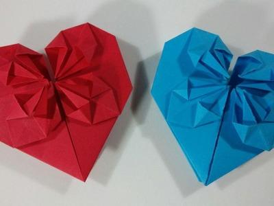 Como hacer un corazon de papel con petalos - Origami