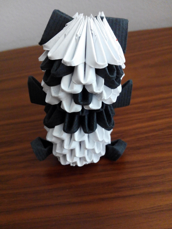 Como hacer un oso panda origami 3d Origami3