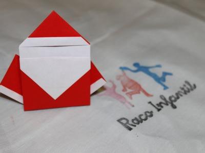Cómo hacer un Papá Noel en Origami
