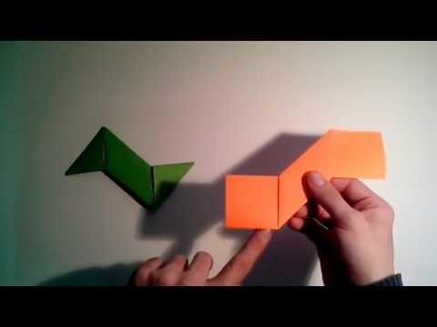 Como hacer un shuriken de papel arma de papel    [Origami - Papiroflexia]