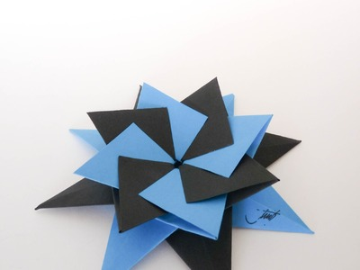 Como hacer una estrella modular de origami (Origami Star-Enrica Dray)