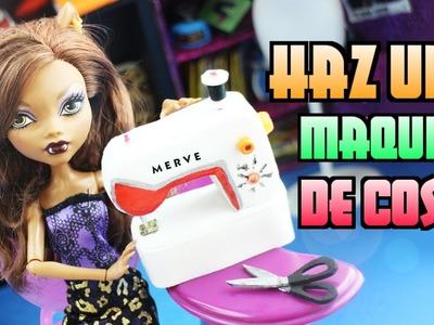 Cómo hacer una Máquina de coser para tus muñecas - Manualidades para muñecas