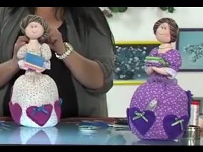 Como Hacer una Muñeca de Trapo para Costurero Alfiletera- Hogar Tv  por Juan Gonzalo Angel