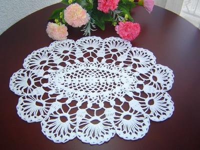 Como Tejer Carpeta o Centro de Mesa a crochet paso a paso DIY 1.3