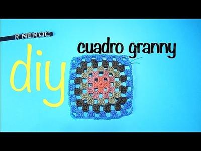 Cuadro abuelitas Punto Alto Ganchillo Crochet Granny Square DIY