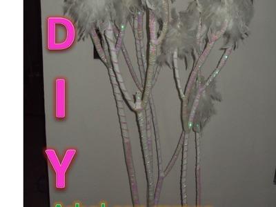 DIY: Arbol con ramas, plumas y lentejuela. Arbol reciclado [Carlu2013]