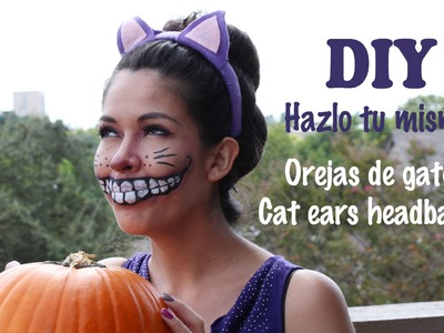 DIY Cheshire cat ears headband. Hazlo tu misma orejas de gato