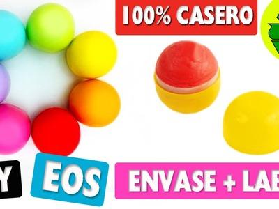 DIY | ENVASE de EOS Casero 100% reciclado y BÁLSAMO LABIAL | 100% ORIGINAL SUPER FÁCIL