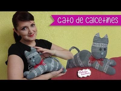 Gato de Calcetín :: Chuladas Creativas :: Ideas con Calcetines