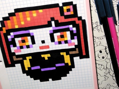 Handmade Pixel Art - How To Draw a Cute Sugar Skull Girl by Garbi KW