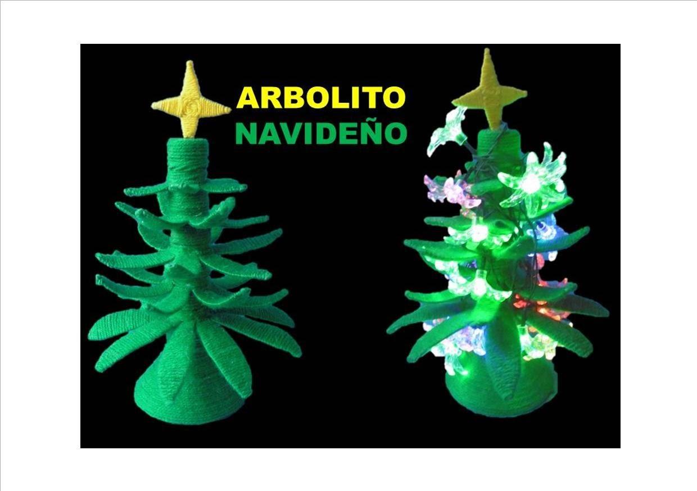 Manualidades navideñas. Árbol de navidad.RECICLAJE