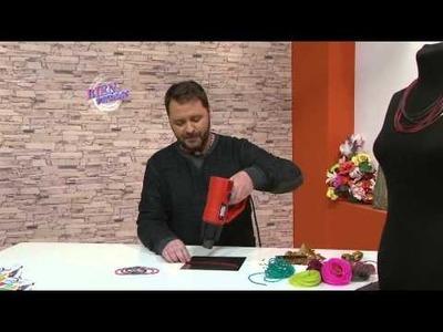 Martín Muñoz - Bienvenidas en HD - Hace un collar y pulseras con PVC.